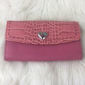 Brighton Pink Croc Wallet